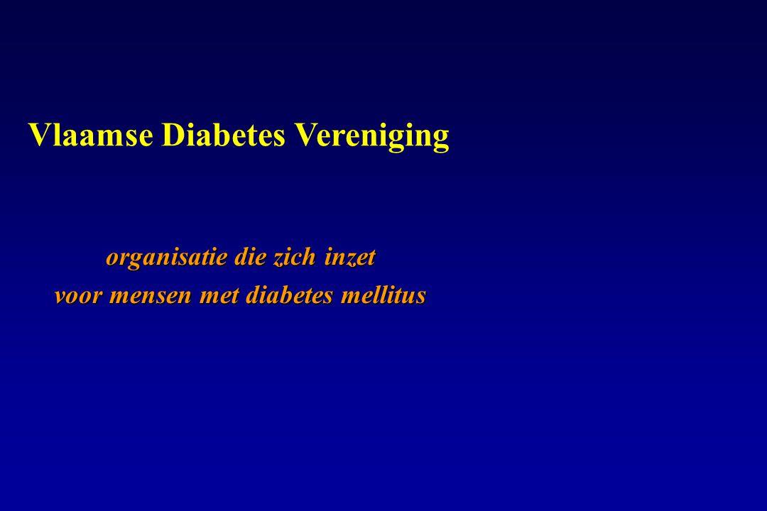 organisatie die zich inzet voor mensen met diabetes mellitus Vlaamse Diabetes Vereniging