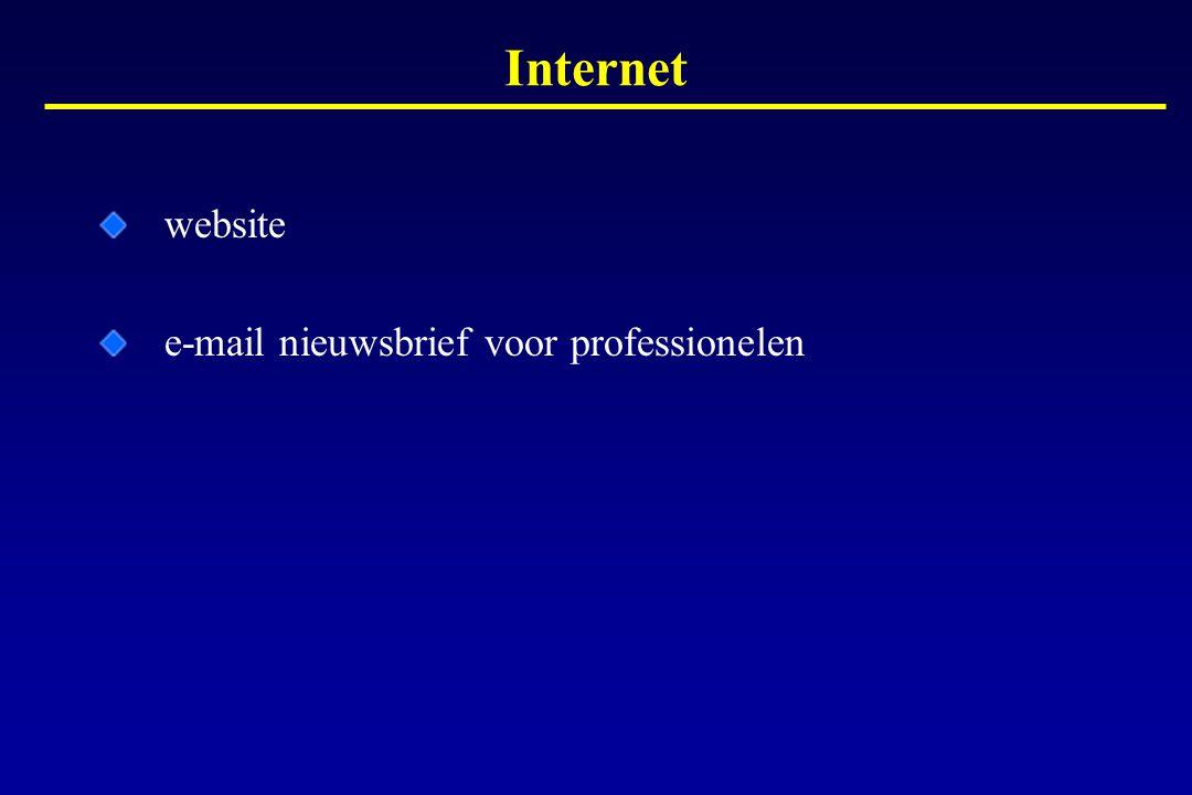 website e-mail nieuwsbrief voor professionelen Internet
