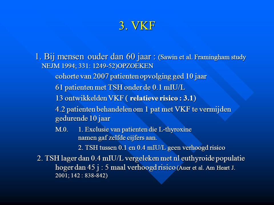 3. VKF 1. Bij mensen ouder dan 60 jaar : (Sawin et al. Framingham study NEJM 1994; 331: 1249-52)OPZOEKEN 1. Bij mensen ouder dan 60 jaar : (Sawin et a