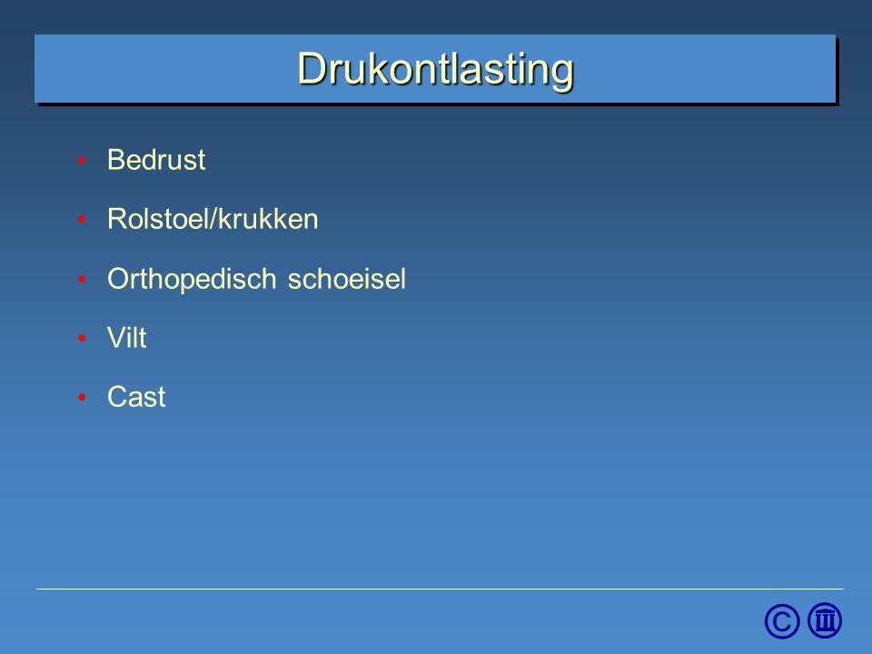 © Drukontlasting Bedrust Rolstoel/krukken Orthopedisch schoeisel Vilt Cast