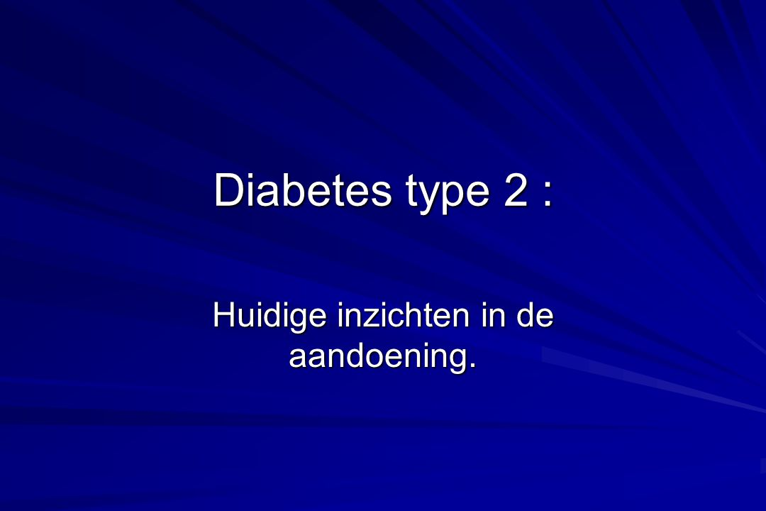 Diabetes : Wie Screenen .