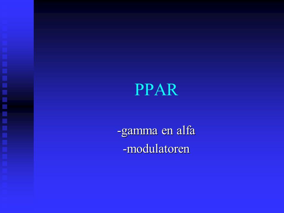 PPAR -gamma en alfa -modulatoren