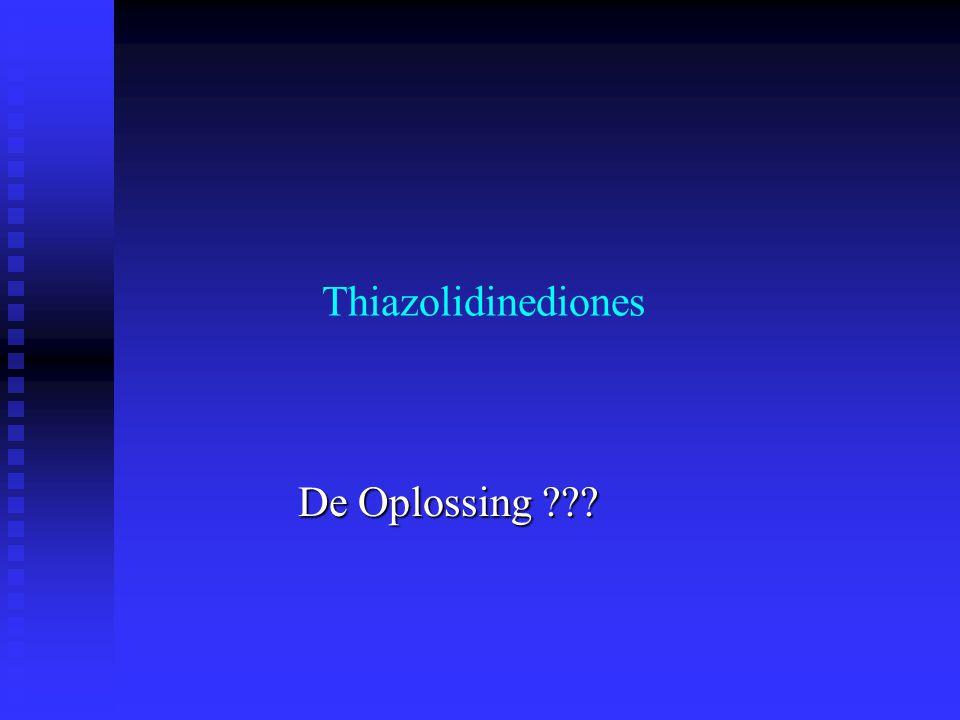 Thiazolidinediones De Oplossing ???