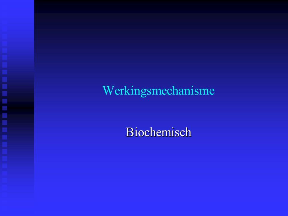 Werkingsmechanisme Biochemisch