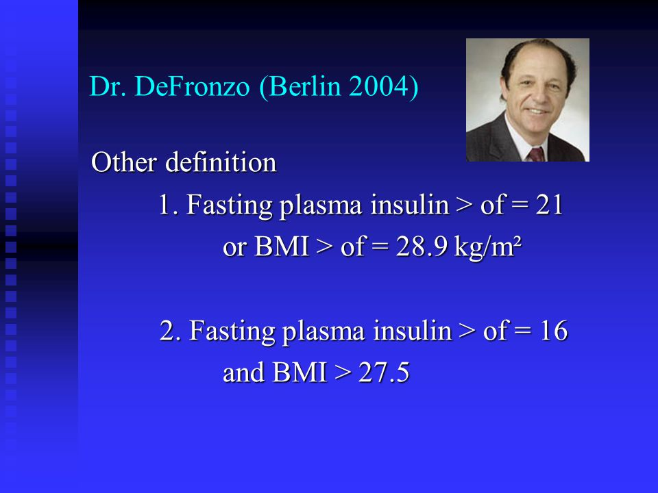 Insulineresistentie, hyperinsulinemie en CV risico (Uwaifo and Ratner.