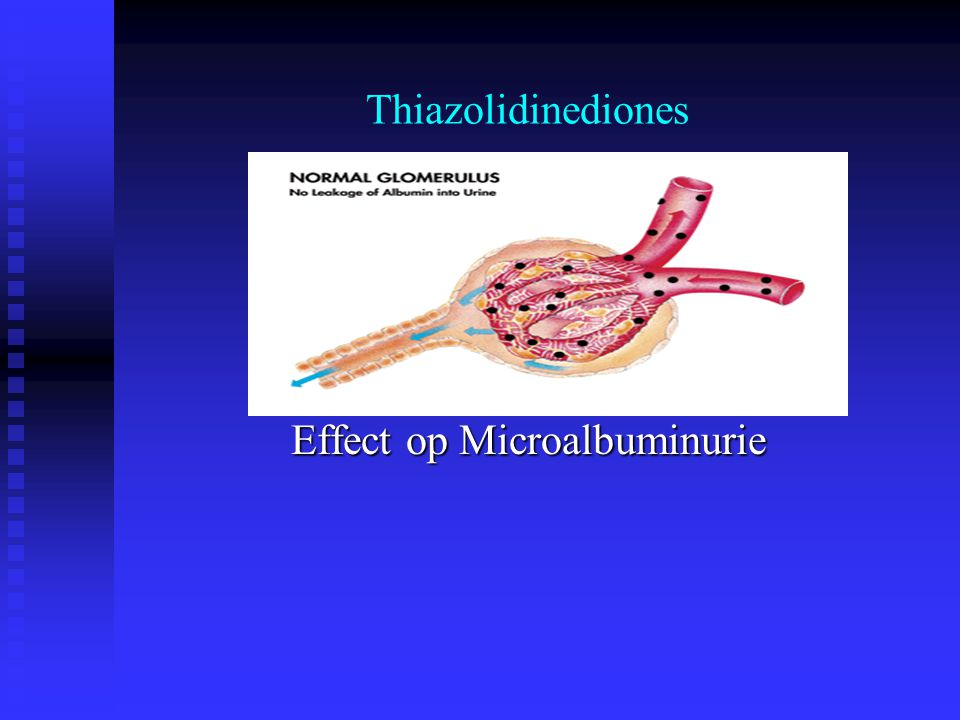 Thiazolidinediones Effect op Microalbuminurie