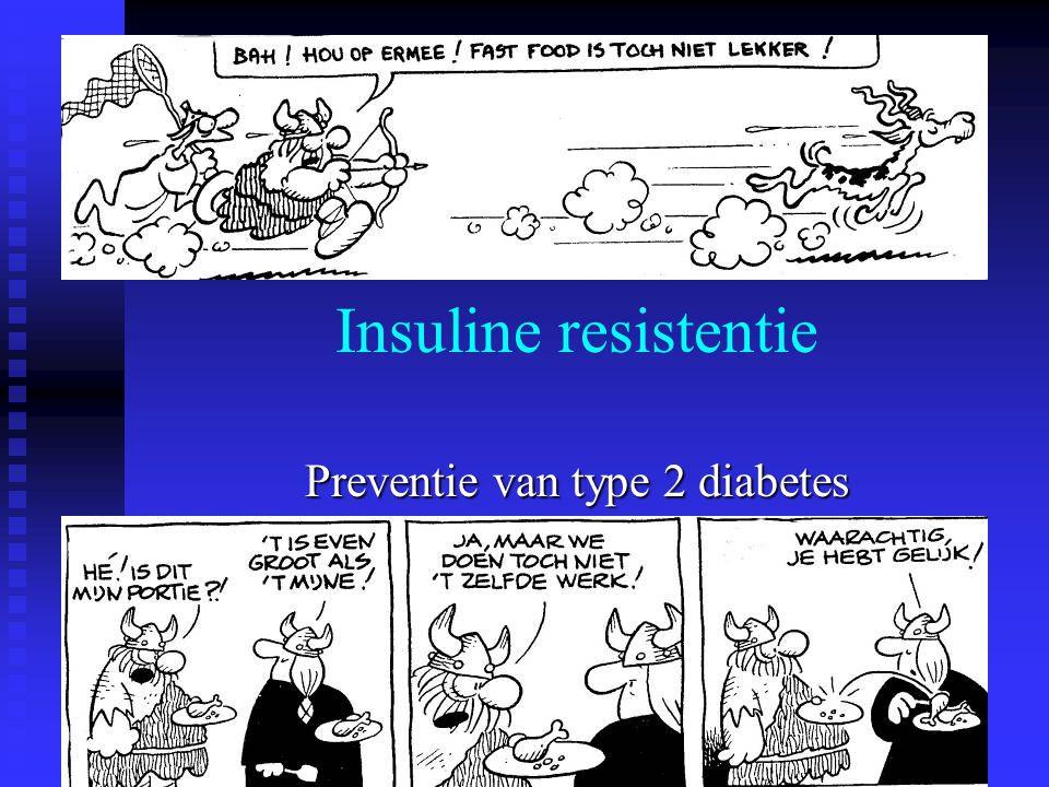 Effect van fibraten bij diabetici Helsinki Heart Study 1987 gemfibrozil : 135/4081 diabetes RR 3.3 % VA-HIT 1999 gemfibrozil : 769/2531 diabetes RR 30.4 %