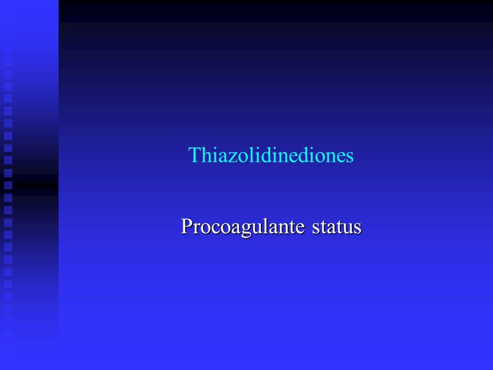 Thiazolidinediones Procoagulante status