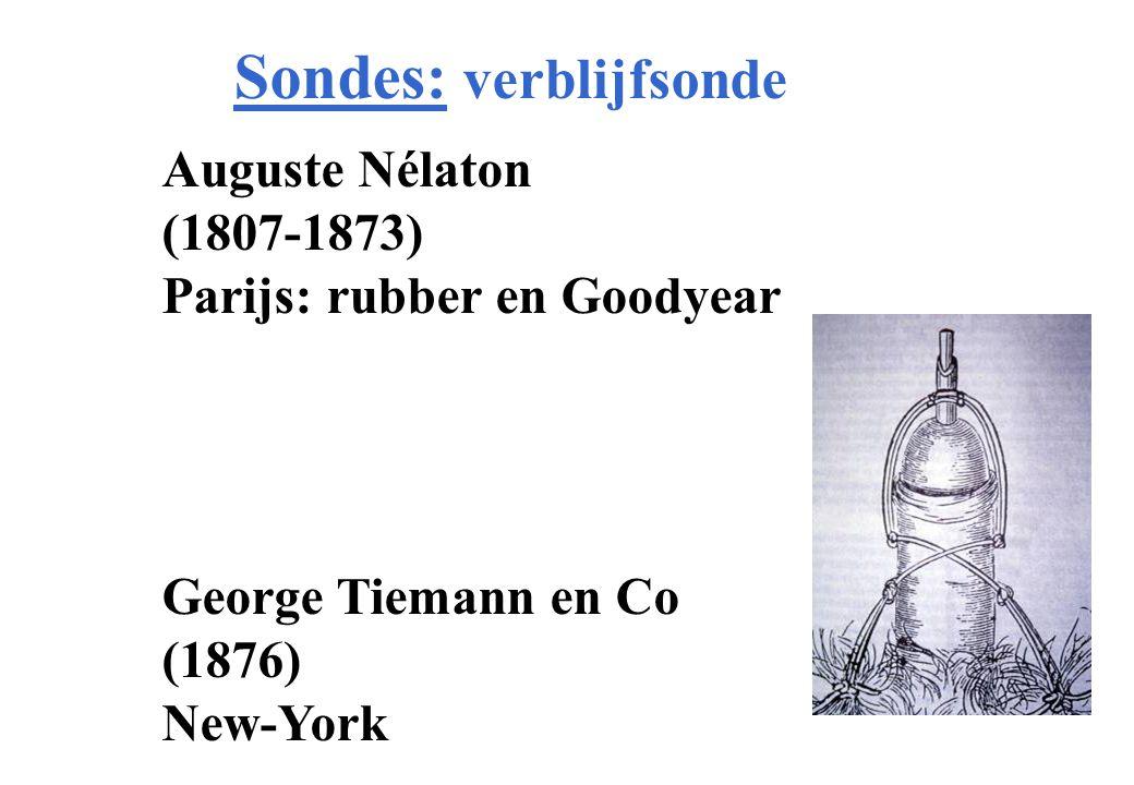 Sondes: verblijfsonde Auguste Nélaton (1807-1873) Parijs: rubber en Goodyear George Tiemann en Co (1876) New-York