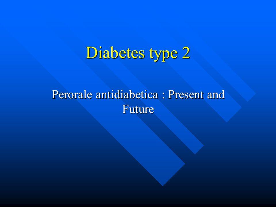 Diabetes type 2 Perorale antidiabetica : Present and Future