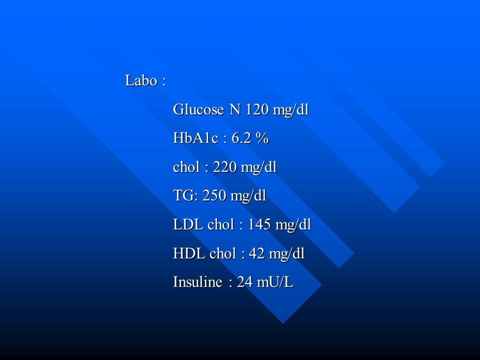 Behandeling van type 2 diabetespatiënten Stand van zaken in België in 2001  Multicentrische survey uitgevoerd in België (140 endocrinologen en internisten)  n= 952 type II diabetespatiënten  29% op hypolipemierende medicatie en 65 % op antihypertensiva  % patiënten aan de streefwaarden* :  TC (< 190 mg/dl ) : 29 %  LDL-C (< 115 mg/dl ) : 43 %  BD (< 130/85 mmHg) : 19 %  Slechts 6.6 % bereikt de 3 streefwaarden De OCAPI survey ( Optimize CArdiovascular Prevention in dIabetes) * Second Joint Task force of European and other Societies on Coronary Prevention, Eur.