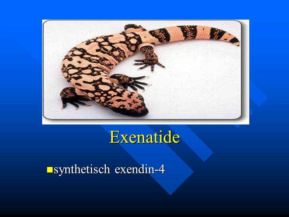 Exenatide synthetisch exendin-4 synthetisch exendin-4