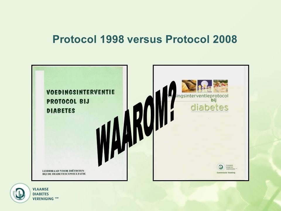 Energie (2008) Streefdoel gewichtsreductie: 5 à 10 % DM2 en overgewicht: energiebeperking 250 à 300 kcal + 30 min matig intensieve beweging DM1 en overgewicht: insulineresistentie, gewichtsverlies: lagere insulinebehoefte en verbeterde glycemieregeling