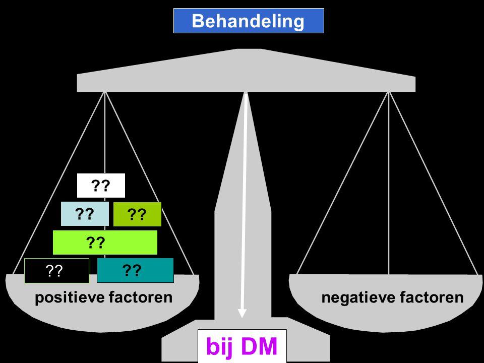 positieve factoren negatieve factoren bij DM ?? Behandeling