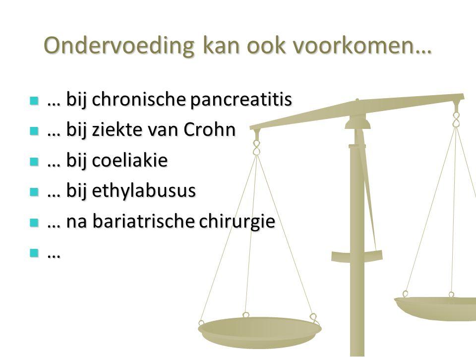 41 Ondervoeding kan ook voorkomen… … bij chronische pancreatitis … bij chronische pancreatitis … bij ziekte van Crohn … bij ziekte van Crohn … bij coe
