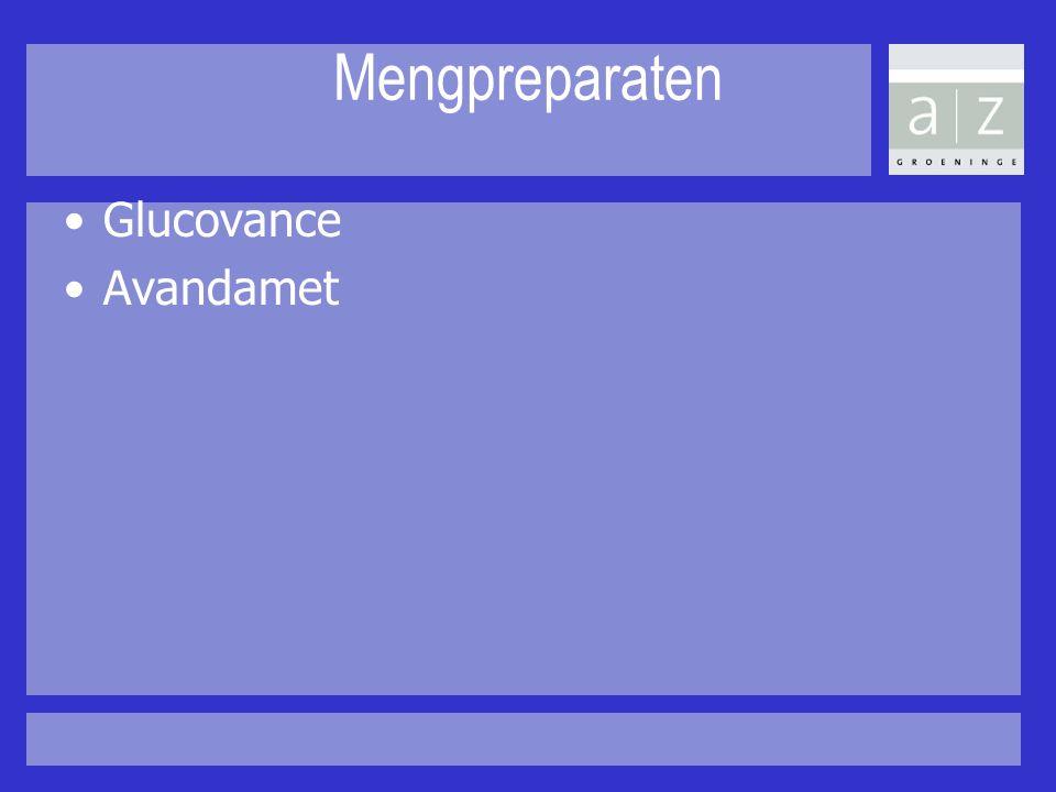 Mengpreparaten Glucovance Avandamet
