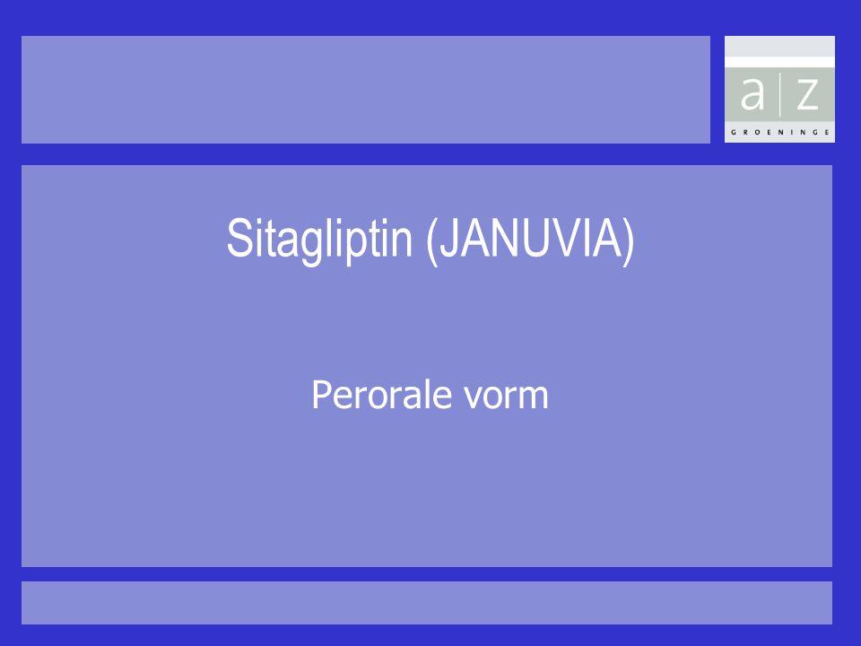 Sitagliptin (JANUVIA) Perorale vorm