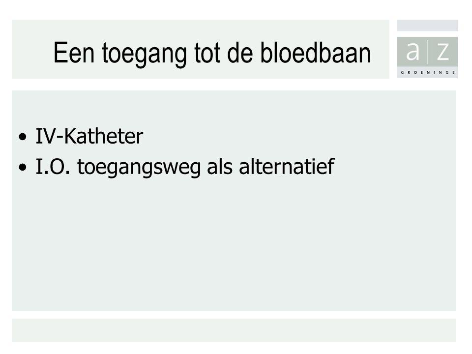 Een toegang tot de bloedbaan IV-Katheter I.O. toegangsweg als alternatief