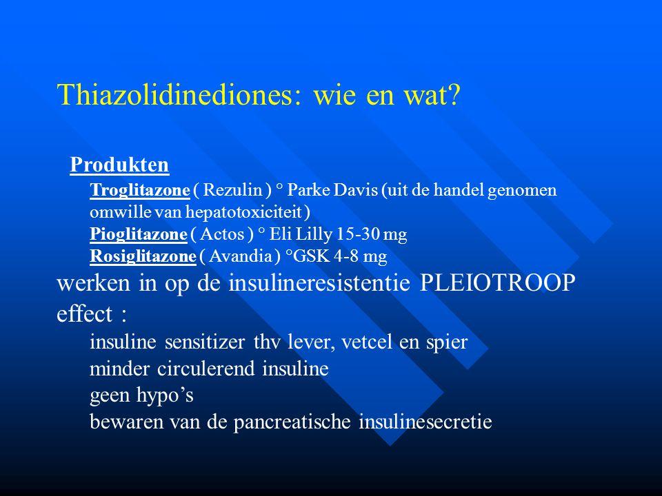 Thiazolidinediones: wie en wat.