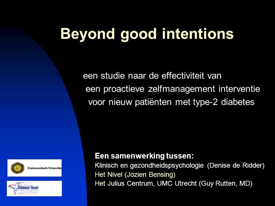 Een samenwerking tussen: Klinisch en gezondheidspsychologie (Denise de Ridder) Het Nivel (Jozien Bensing) Het Julius Centrum, UMC Utrecht (Guy Rutten,