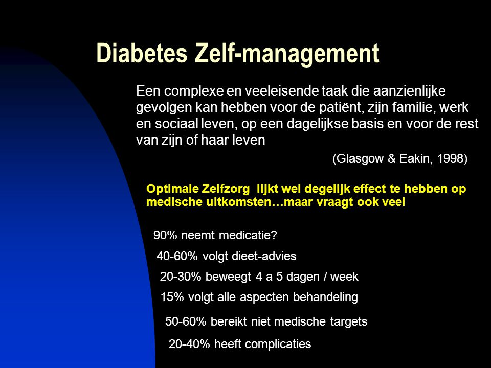 Zelf management interventies > 200 interventie studies m.b.t.
