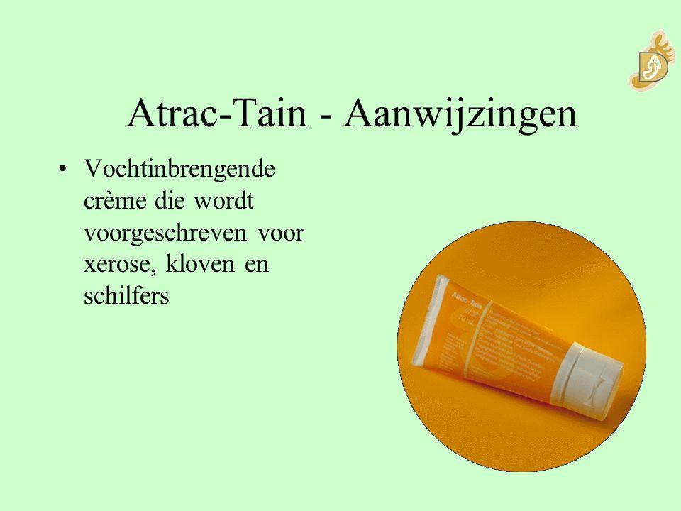 Atrac-Tain - Aanwijzingen Vochtinbrengende crème die wordt voorgeschreven voor xerose, kloven en schilfers
