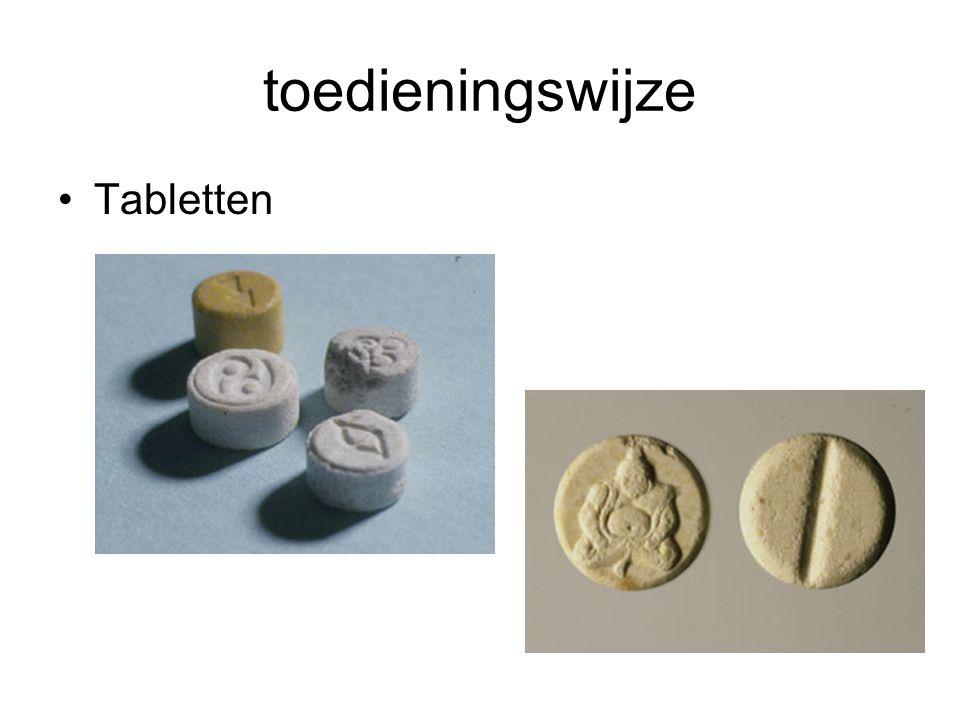 toedieningswijze Tabletten