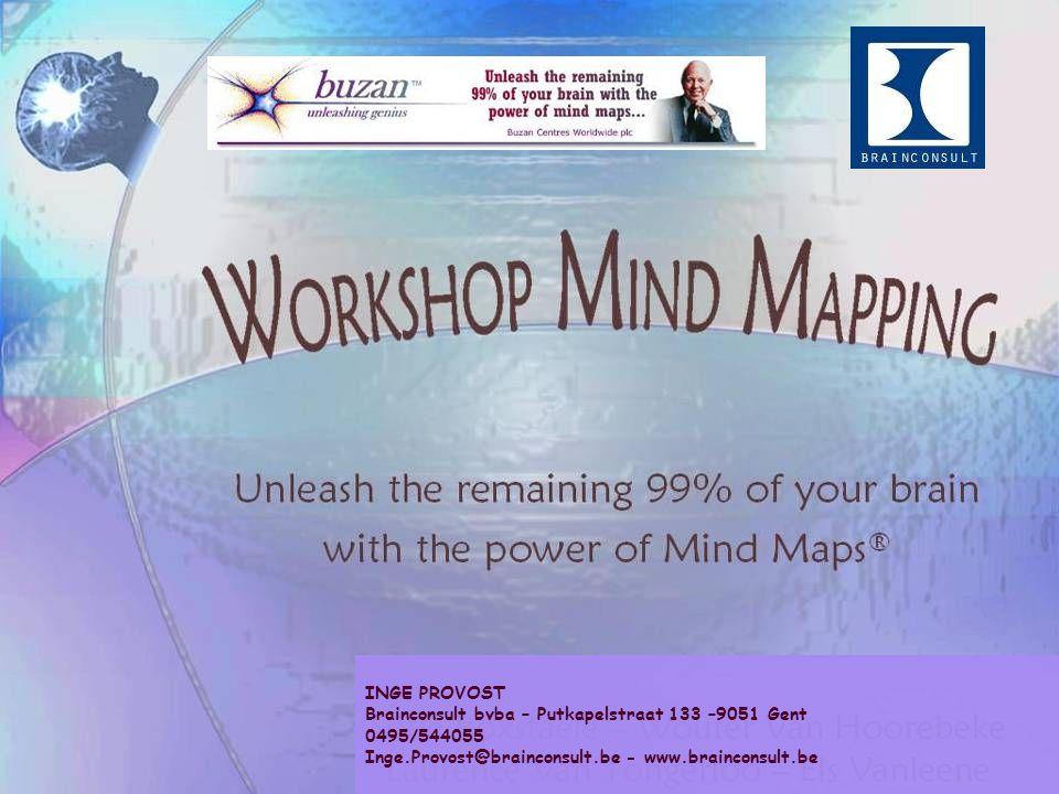 INGE PROVOST Brainconsult bvba – Putkapelstraat 133 –9051 Gent 0495/544055 Inge.Provost@brainconsult.be - www.brainconsult.be