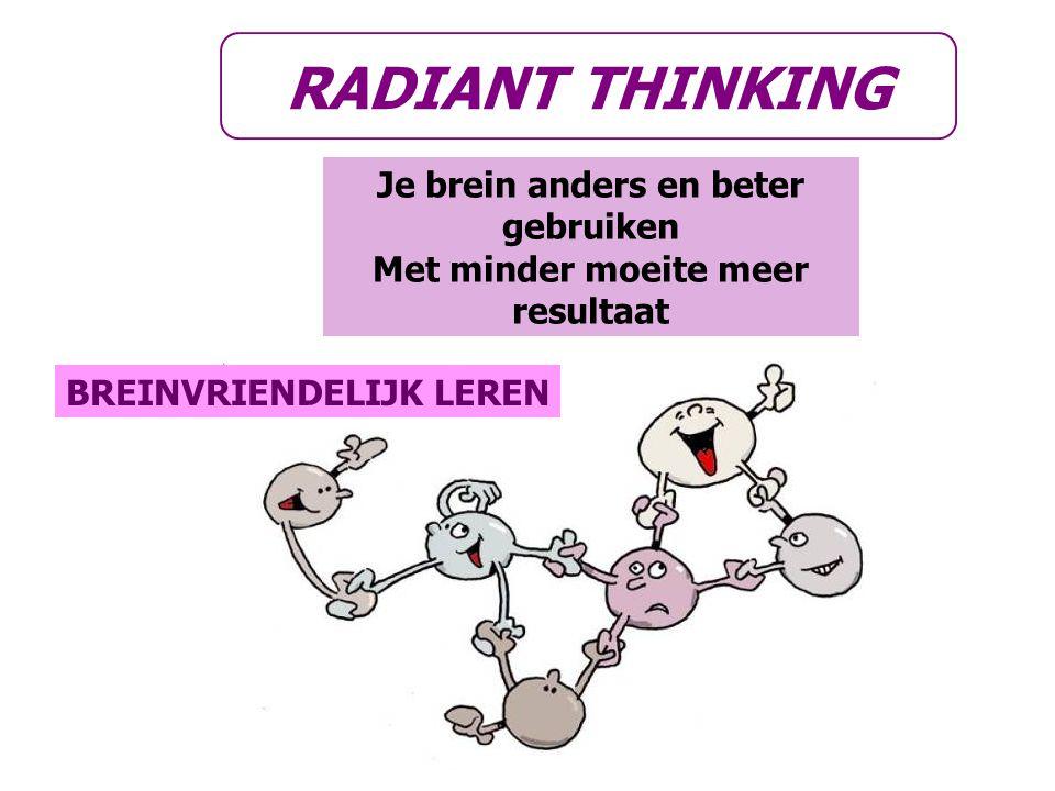RADIANT THINKING Je brein anders en beter gebruiken Met minder moeite meer resultaat BREINVRIENDELIJK LEREN