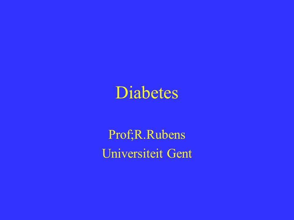 Diabetische nefropathie Eerst micro-albuminurie Later echte nefropathie ZEER belangrijk tensie controle grens is lager!!.