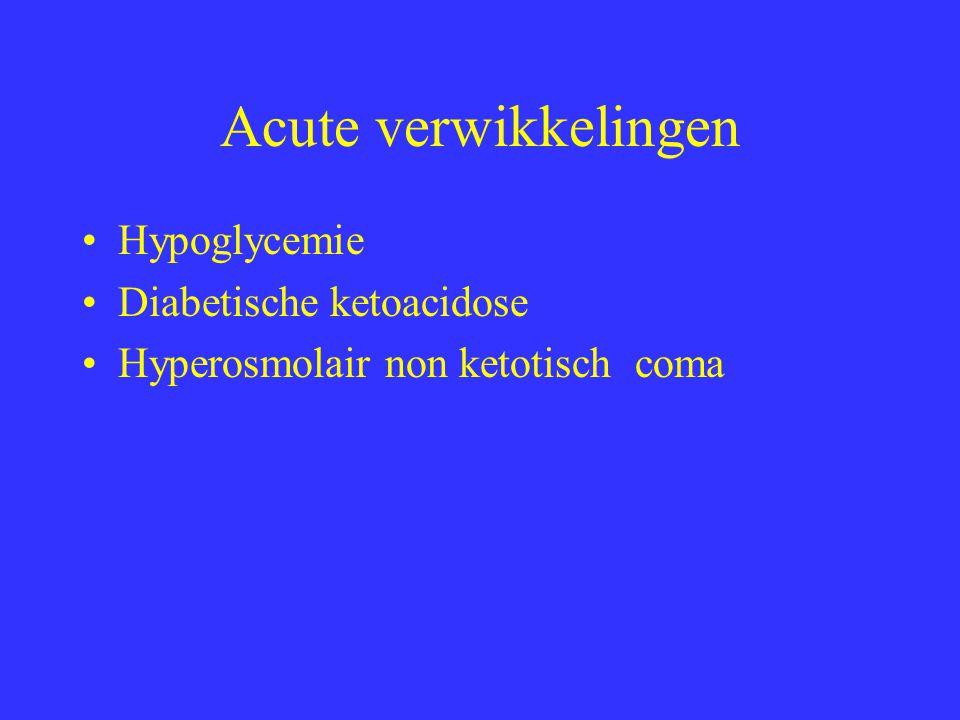 Hypoglycemie Etiologie : teveel insuline of SU, maaltijd weg, fysieke inspanning.– Alcohol---farmaca: Salicylaten, warfarines (!!), butazolidine.