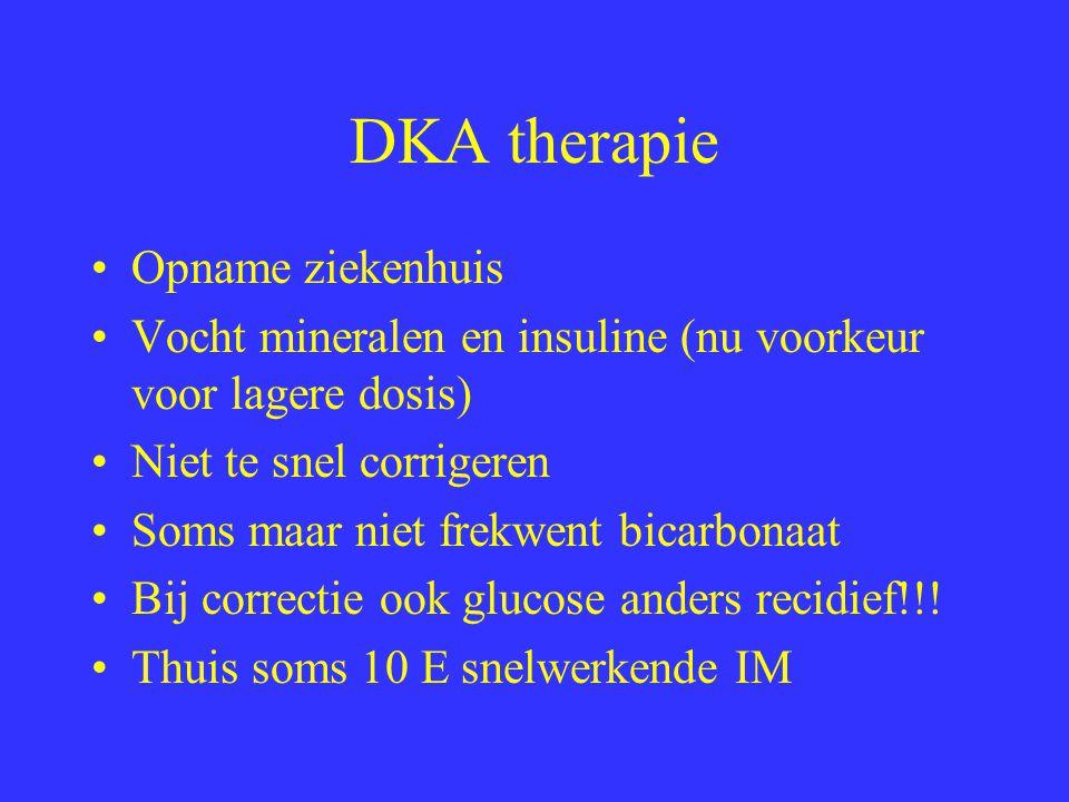 Hyperosmolair non-ketotisch coma Vooral ouderen met sterke hyperglycemie (cave diuretica gebruik) Flinke diurese en deshydratatie.