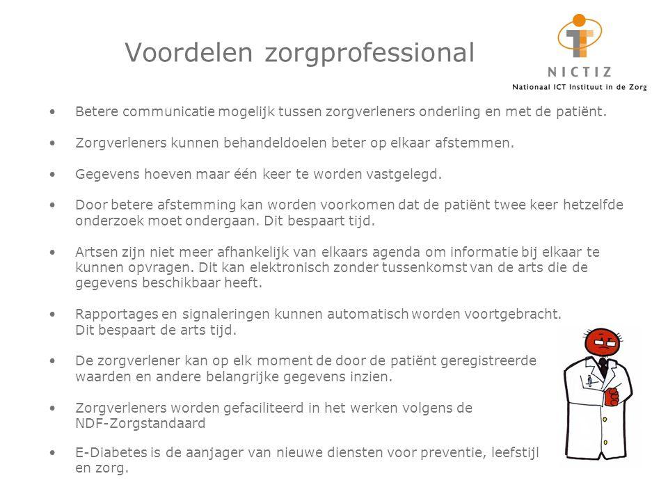 Betere communicatie mogelijk tussen zorgverleners onderling en met de patiënt.