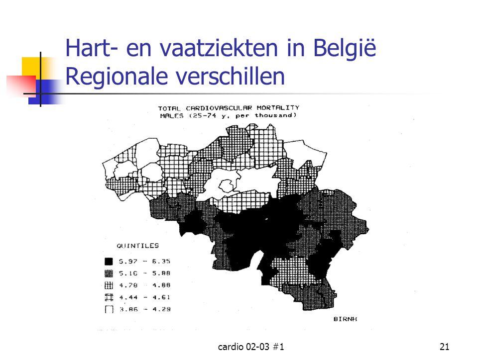 cardio 02-03 #121 Hart- en vaatziekten in België Regionale verschillen