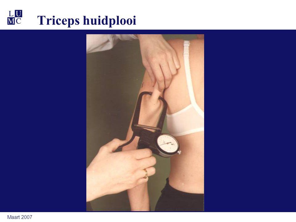 Maart 2007 Triceps huidplooi