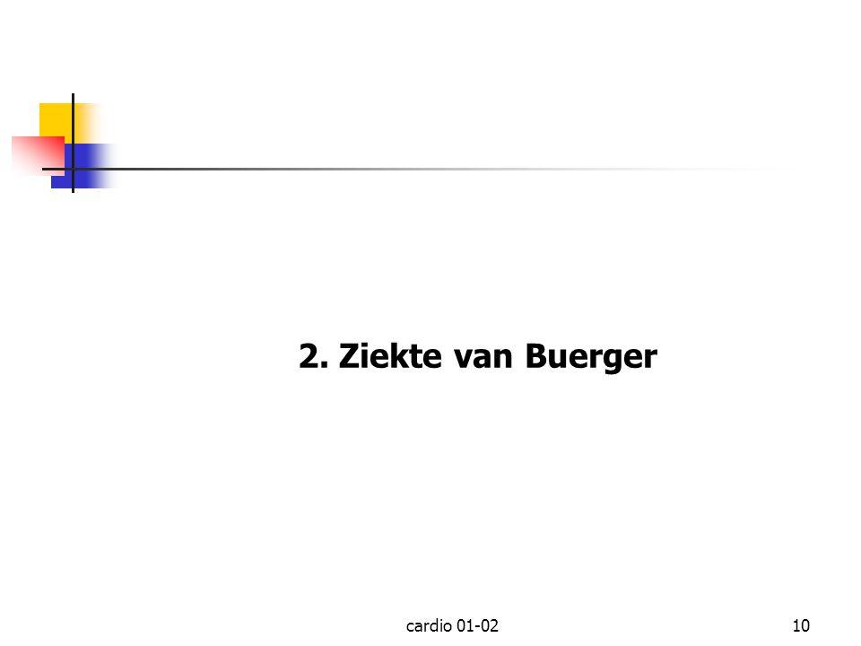 cardio 01-0210 2. Ziekte van Buerger