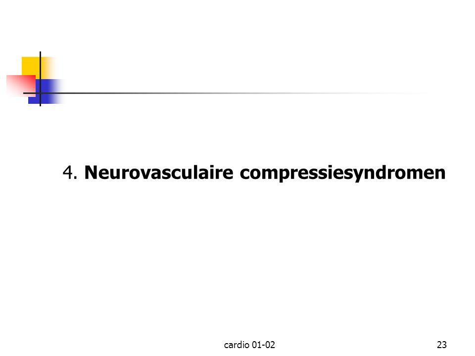 cardio 01-0223 4. Neurovasculaire compressiesyndromen