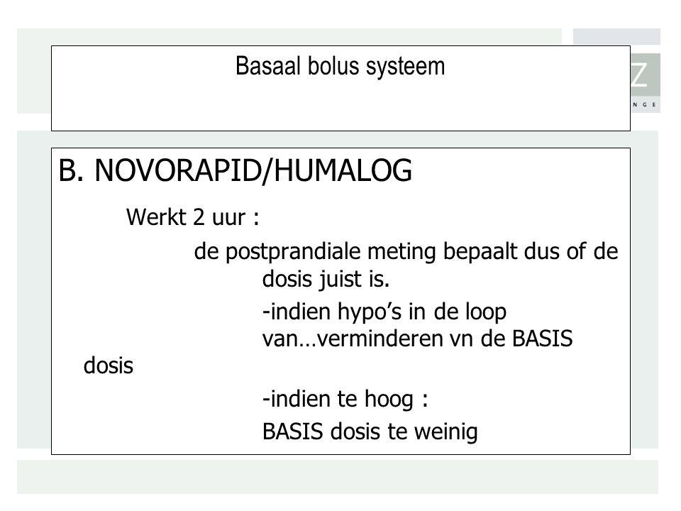 Basaal bolus systeem B.