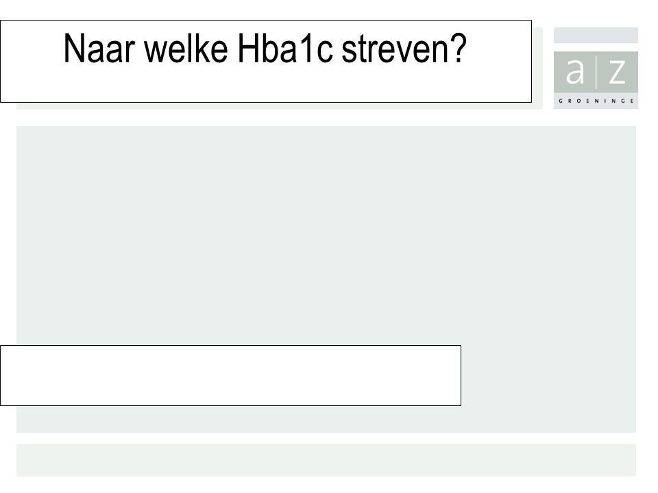 Naar welke Hba1c streven?