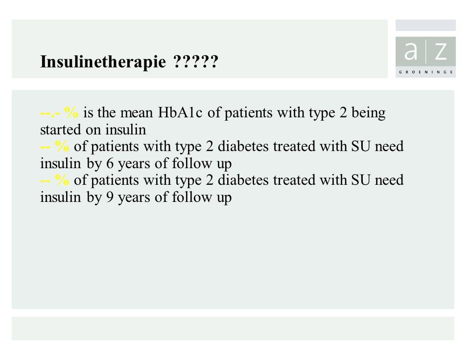 Insulinetherapie ????.
