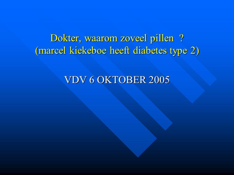 Dokter, waarom zoveel pillen ? (marcel kiekeboe heeft diabetes type 2) VDV 6 OKTOBER 2005