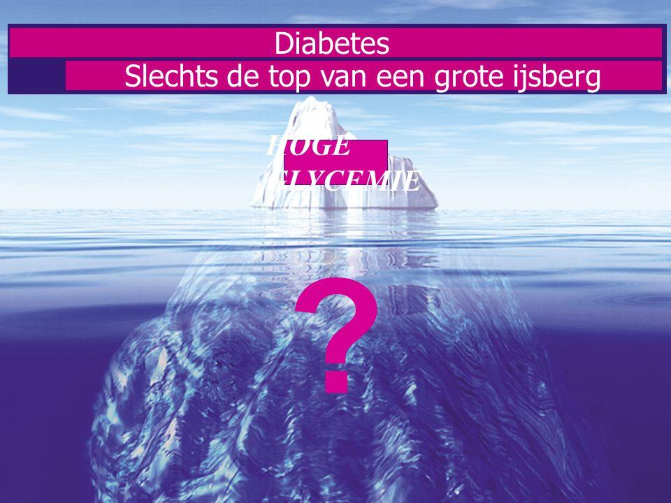 Diabetes Slechts de top van een grote ijsberg HOGE GLYCEMIE ?