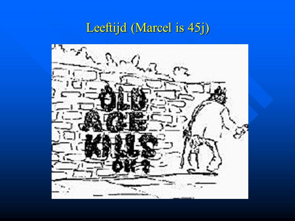 Leeftijd (Marcel is 45j)