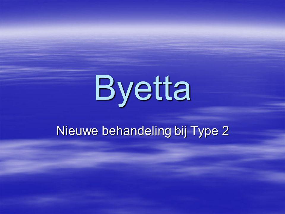 Byetta Nieuwe behandeling bij Type 2