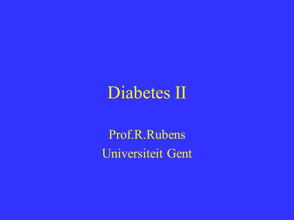 Diabetes II Prof.R.Rubens Universiteit Gent
