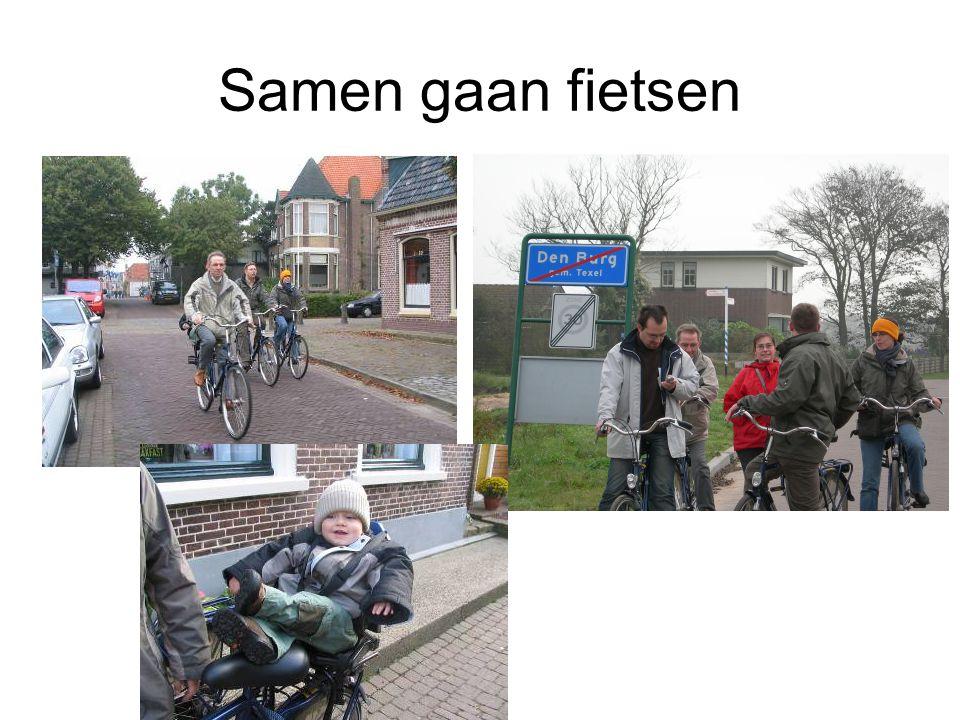 Samen gaan fietsen