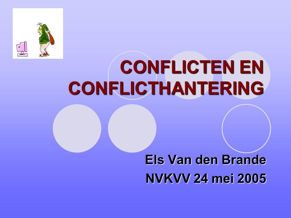 CONFLICTEN EN CONFLICTHANTERING Els Van den Brande NVKVV 24 mei 2005
