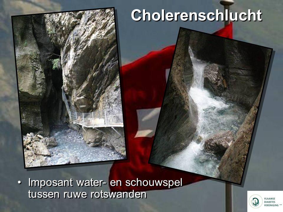 Cholerenschlucht Imposant water- en schouwspel tussen ruwe rotswanden