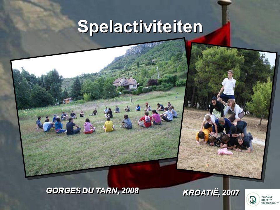 Spelactiviteiten GORGES DU TARN, 2008 KROATIË, 2007