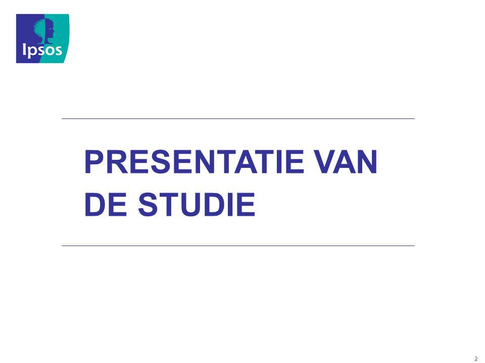 PRESENTATIE VAN DE STUDIE 2 2